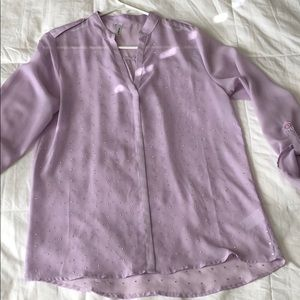 3/4 length sleeve purple blouse